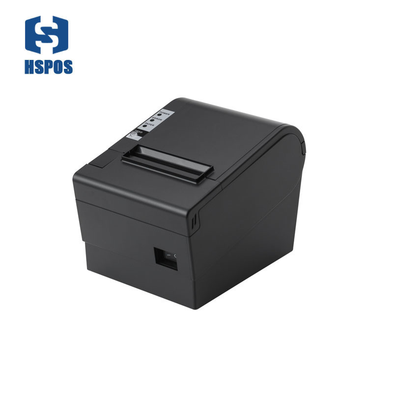 hot sale USB LAN port 80mm printer with cutter support 220mm per second printing speed HS 825UL