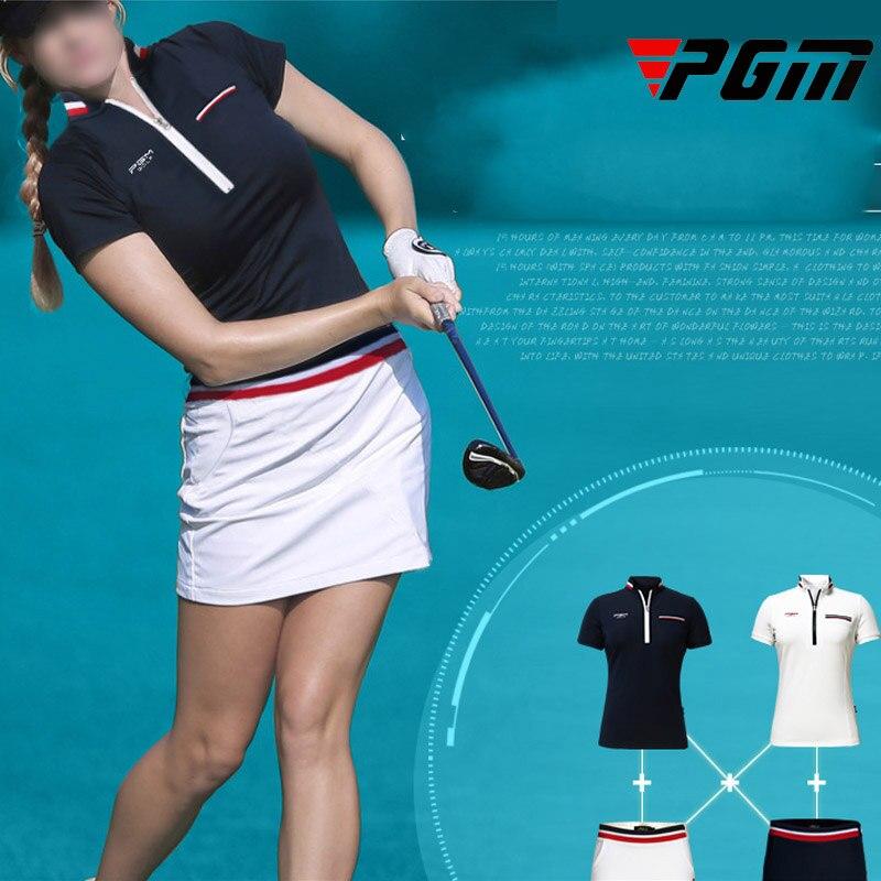 Marque femmes Golf chemise jupe Slim confortable respirant col montant T-shirt Anti-transpiration bonne élasticité jupe XS S M L XL marine