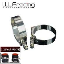 """WLR-(2 шт./лот) 2,2"""" Зажимы 60 мм-68 мм нержавеющая силиконовый турбо шланг муфта T фонарик на руль велосипеда комплект высокого качества SS304 WLR5251"""