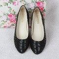 2016 nueva primavera y verano moda casual plana con baja grieta boca escoge los zapatos planos mujeres zapatos tamaño 35-42 B022