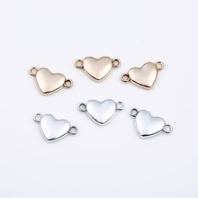 17mm*11mm New Heart  Rhinestone Shaped Gold Silver Pendant Connectors For Making Jewelry DIY