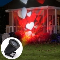 New LED Projector Laser Stage Light elf Romantic heart light laser for outdoor garden holiday Christmas decoration free shipping