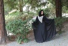 Elegant New Arrival Caftan Marocain Islamic Abaya in Dubai Evening Dresses Long Sleeve Moroccan Kaftan