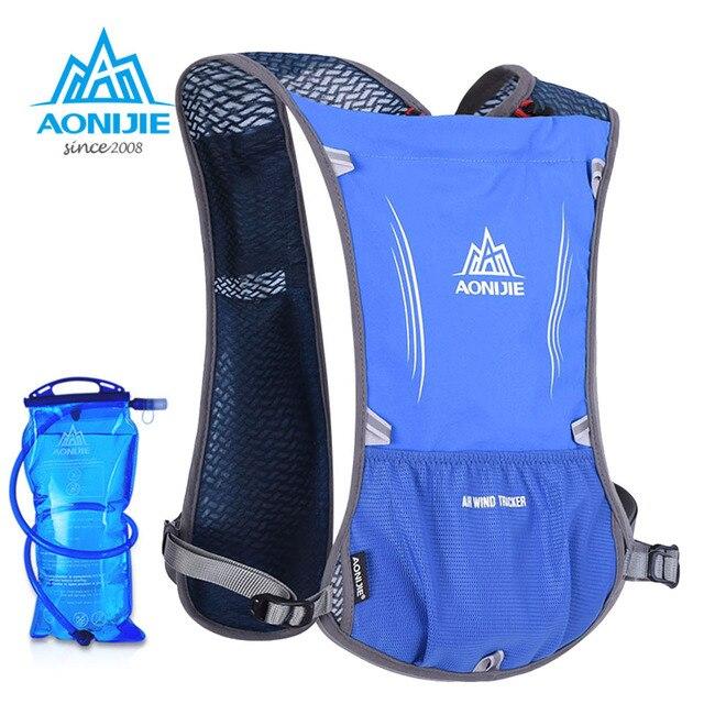 AONIJIEMen Women Lightweight Running Backpack Outdoor Sports Trail Racing Marathon Hiking Fitness Bag Hydration Vest Pack