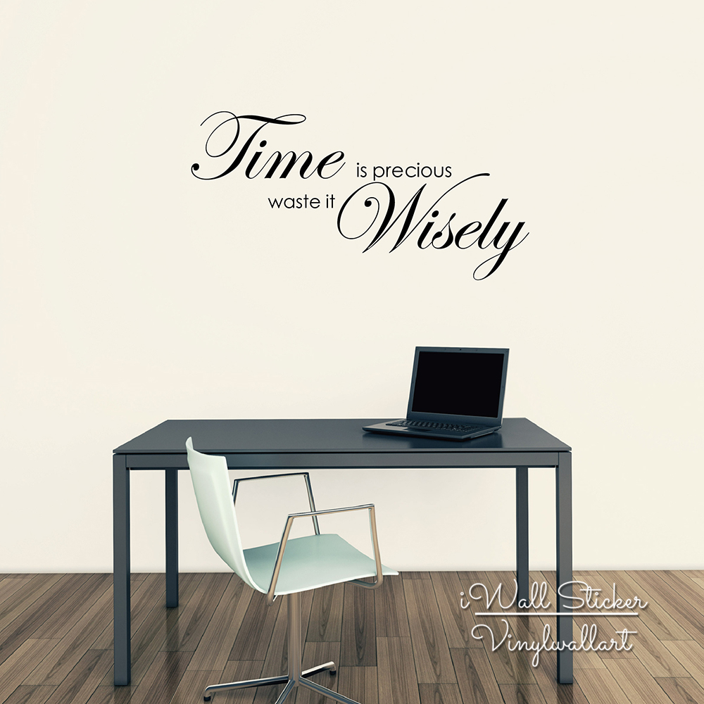 Time Is Precious Quote Wall Sticker Motivational Quote ...