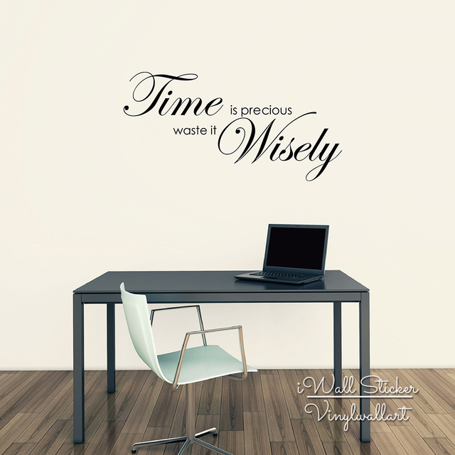 Inspirational Wall Quotes Time Is Precious Quote Wall Sticker Motivational Quote Wall Decal  Inspirational Wall Quotes