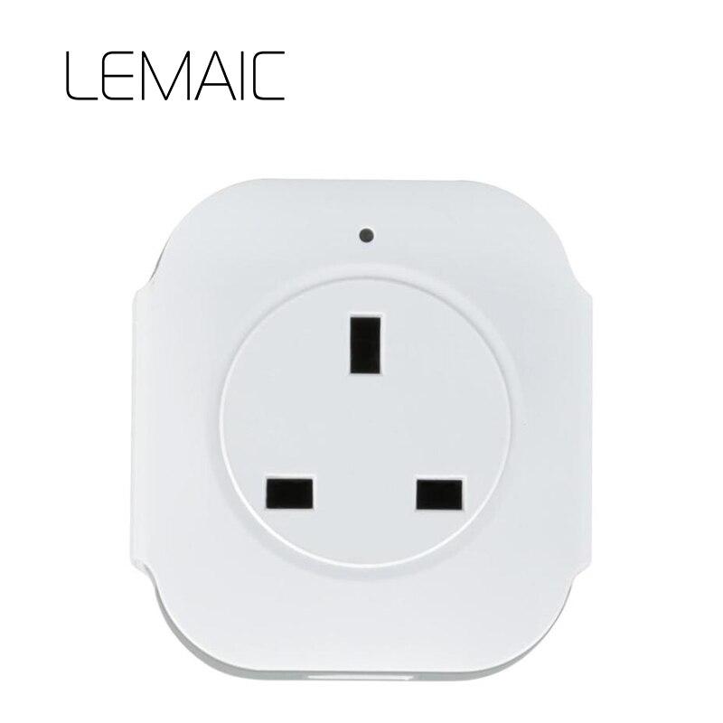 LEMAIC Великобритании Wi-Fi розетка сотовом телефоне Беспроводной управления для iphone ipad Android умный дом domotica умный дом