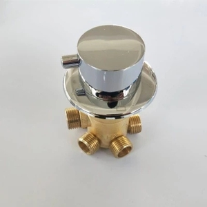 Image 5 - MTTUZK wall mounted 2/3/4/5 Ways water outlet brass shower tap screw or intubation split shower cabin shower room mixing valve