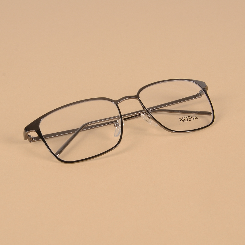 52bceb08c87 Metal Big Frame Women And Men Eyeglasses New Fashion Myopia Optical Glasses  Frames Male Female Delicate