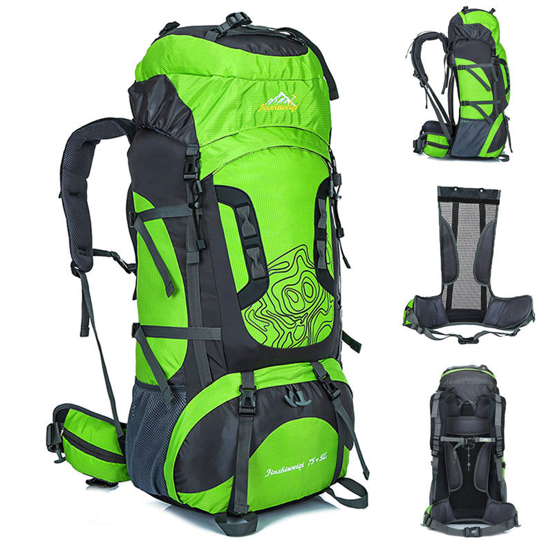 En plein air 80L grand sac à dos en plein air cadre externe étanche sacs de voyage Camping randonnée escalade sacs à dos sac à dos sac de Sport