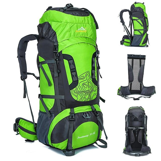 Outdoor 80L Large Outdoor Backpack External Frame Waterproof Travel Bags  Camping Hiking Climbing Backpacks Rucksack Sport bag 27eb04eab7