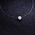 Ювелирные изделия высокого качества Прозрачная леска звено цепи циркон CZ choker ожерелье подарок для женщины девушка N2016
