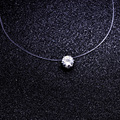 fashion jewelry top quality Transparent fishing line chain link zircon CZ choker necklace gift for women girl N2016