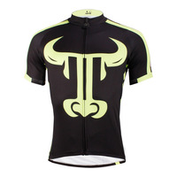 2016 New Tau Pattern Mens Short Sleeve Cycling Jersey Black Bike Clothes Polyester Breathable Cycling Clothing