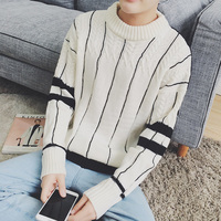 2018 Spring And Summer New Men's Solid Color Simple Long sleeved Casual Warm Sweater Temperament Business Personality Fashion