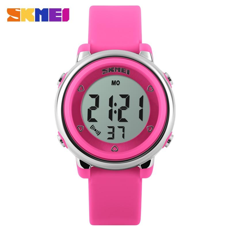 New SKMEI Brand Children Sports Watches LED Digital Military Outdoor Watch Boys And Girls Swim Alarm Wristwatches 1100