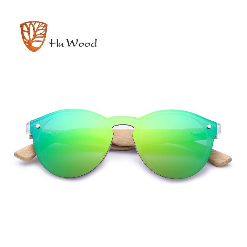 HU WOOD Men Mirror Linser Trä Solglasögon Multi Color Woman - Kläder tillbehör - Foto 3