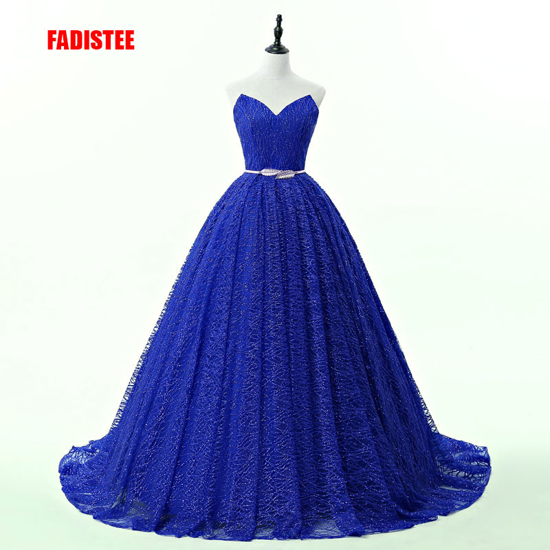 FADISTEE hot sale elegant   evening     dresses   sequins   dresses   formal prom party   dress   vestidos de festa lace-up bling sexy ball gown