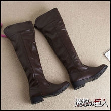 Mikasa Ackerman Cosplay Boots Eren Shoes Levi Attack on Titan Cosplay Boot Custom Made(China)