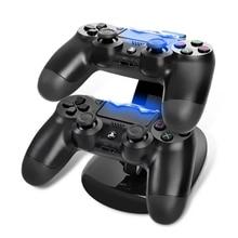 USB двойной геймпад Зарядное устройство Док-контроллер игровой контроллер Питание зарядная станция Подставка для sony Playstation 4 PS4