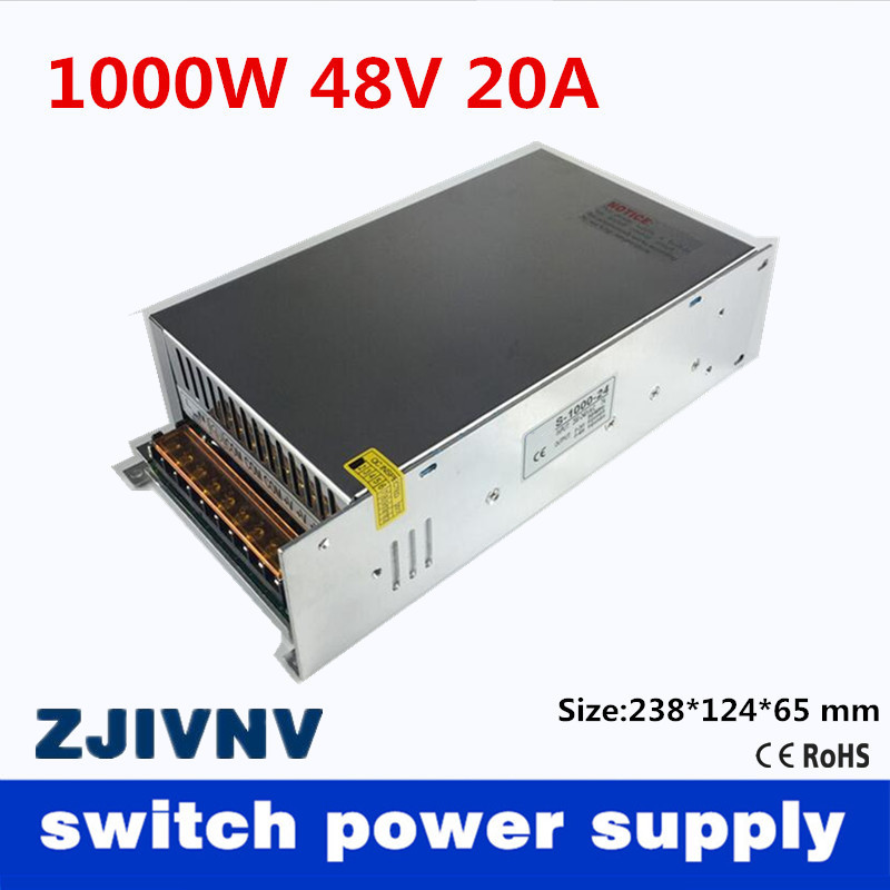 1000W 48V 20A Single Output Switching power supply Driver Transformers 110V or 220V AC to DC smps For CNC Machine DIY LED CCTV