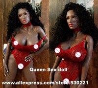 Новый 151 см Одежда высшего качества черный силиконовый Секс куклы искусственной вагины Настоящее киска анальный сексуальные куклы для взро