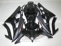100% fit injection mold fairings For Yamaha R6 06 07 black motorcycle fairing kit YZF 2006 2007 YT25