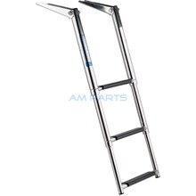 Stainless Steel 3 Step Telescopic Boat Ladder – Marine Transom Boarding Ladder