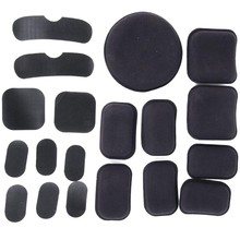 19pcs EVA Non-toxic Protective Cushion Replacement  For Helmet Fast Helmets With Hook And Loop Fastener black bk color special swat force sticky hook and loops set for marsoc devgru ops fast mich ach lwh cvc pasgt gentex helmets