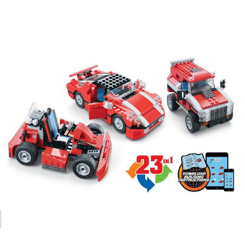 DECOOL 3110 City 23 in 1 Creator Super Speedster Red Car Figure Blocks Construction Building Toys For Children Compatible Legoe трамблер газ 3110 киев