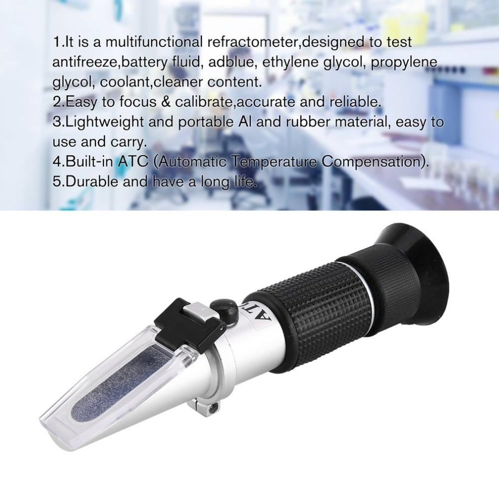 Handheld Refractometer Adblue Ethylene Glycol Antifreeze Battery Fluid  Content Coolant Cleaner Meter Mini ATC Measuring Tester