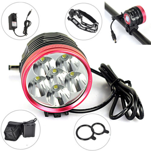 Cycling 9000LM 6x XM-L T6 LED Head Front Bicycle Light Bike Lamp Headlamp Torch 10000lm 6x xml t6 led front head bicycle bike front cycling light lamp head headlight black