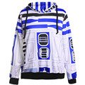 new unisex galaxy space R2D2 printed women men  hoodie sweatshirt  tracksuit hoodies with front pocket for Ms and Mrs 4182316