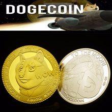2 шт./набор, позолоченные и серебряные памятные монеты в виде собаки