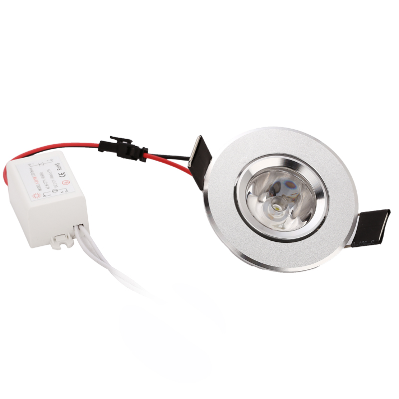10pcs 1w 3w 85-265V LED Οροφής Ασημί Διάταξη - Εσωτερικός φωτισμός - Φωτογραφία 3