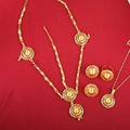 New Arrival Fashion African Eritrean Ethiopian Jewelry Sets 24K Gold Plated Habesha Jewelry Sets For Women