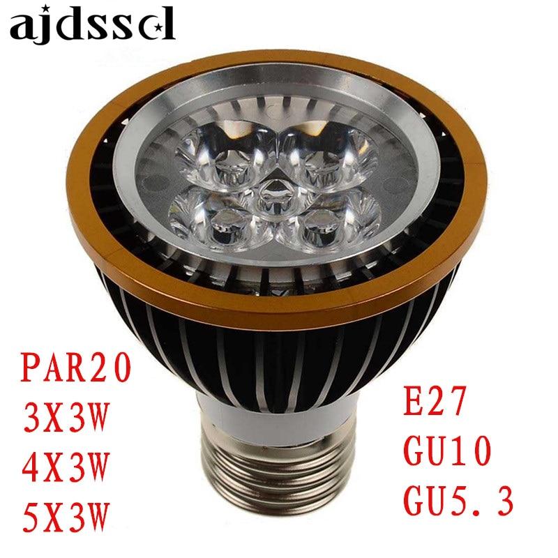 Factory Sale LED Spot Spotlight PAR20 Bulbs E27 GU10 GU5.3 3x3w 4x3w 5x3w Warm/Cold/PURE White Dimmable LED P20 Spotlights Lamps