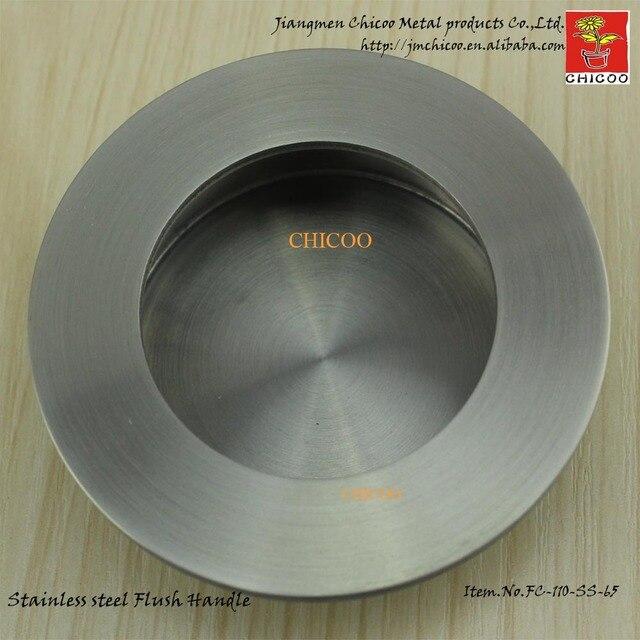 2 stück großhandel 65mm Durchmesser edelstahl runde möbel griffe ...