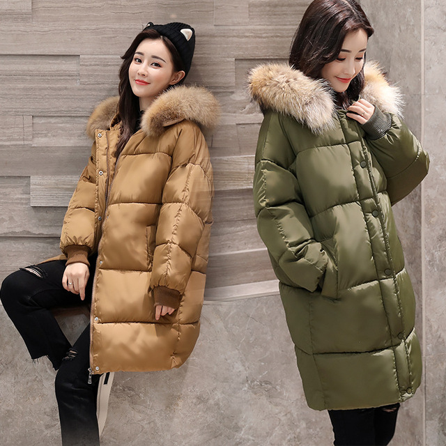 8403acff5cf Women Winter plus size warm parka Hooded long female Down cotton quilted  coat lady Puffer Jacket