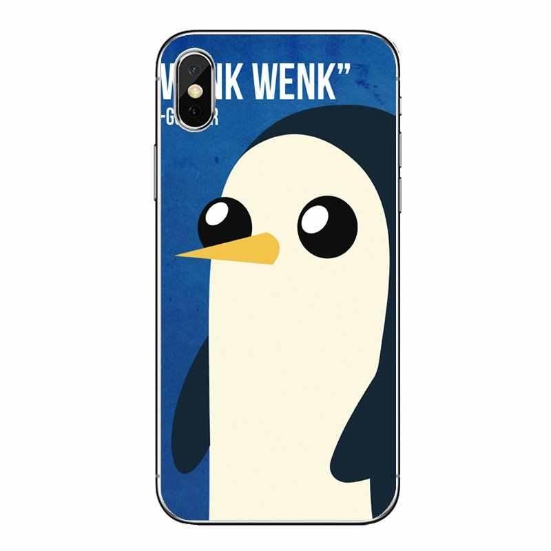 Для Nokia для детей возрастом 2, 3, 5, 6, 8, 9, 230 3310 2,1 3,1 5,1 7 Plus прозрачные мягкие чехлы из мультфильма «Время приключений» Pinguin желтого цвета