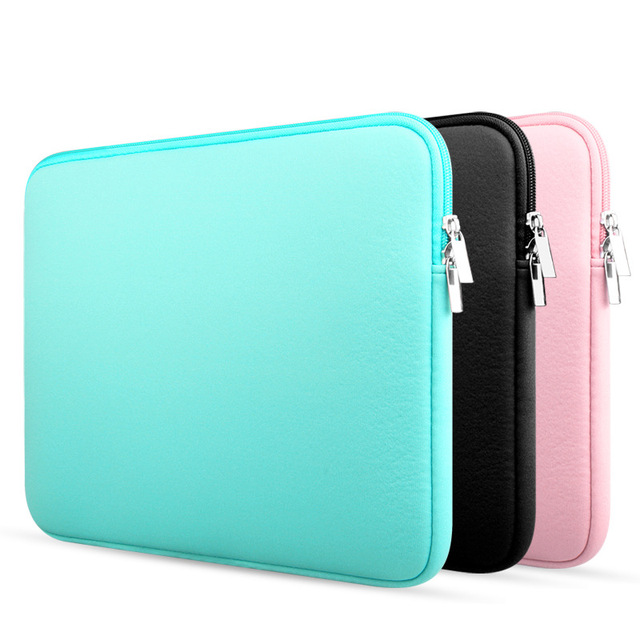 online retailer 98878 db49f US $13.87 |Soft Sleeve Hot Laptop Bag Case For Macbook Air13 Pro11 12 15  12Inch For Mac Pouch Cover For Notebook Phone Mouse Adapter Cable-in Laptop  ...