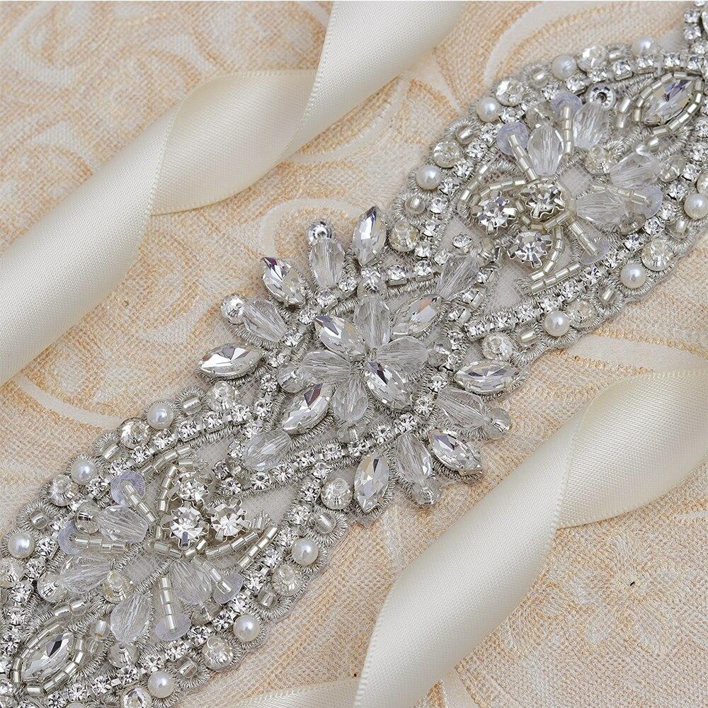 Yanstar Wedding Belt Elegant Bridal Rhinestones Belt Hand Beaded Crystal Belt For Wedding Evening Dress 35WB864 in Bridal Blets from Weddings Events