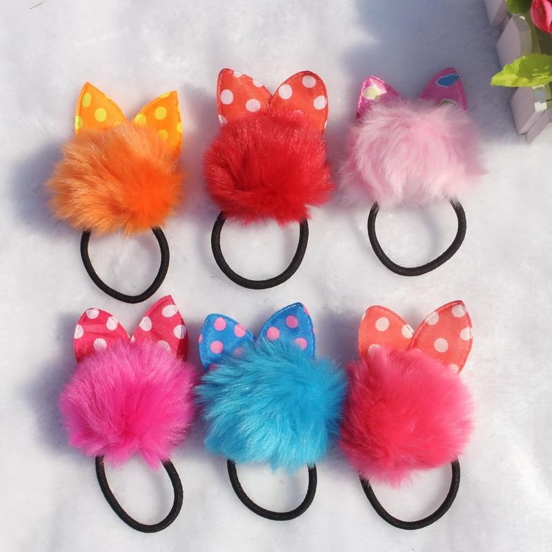 isnice Girl headwear Rabbit ears elastic headress flores bows