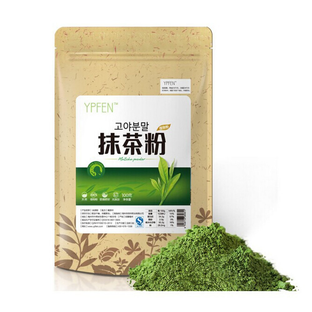 100g lot matcha powder green tea pure organic certified natural premium loose useful kitchen cooking supplies