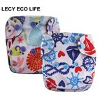 LECY ECO LIFE digital print cloth newborn diaper nappy with bamboo charcoal inner material, mini size nappies double leg gusset