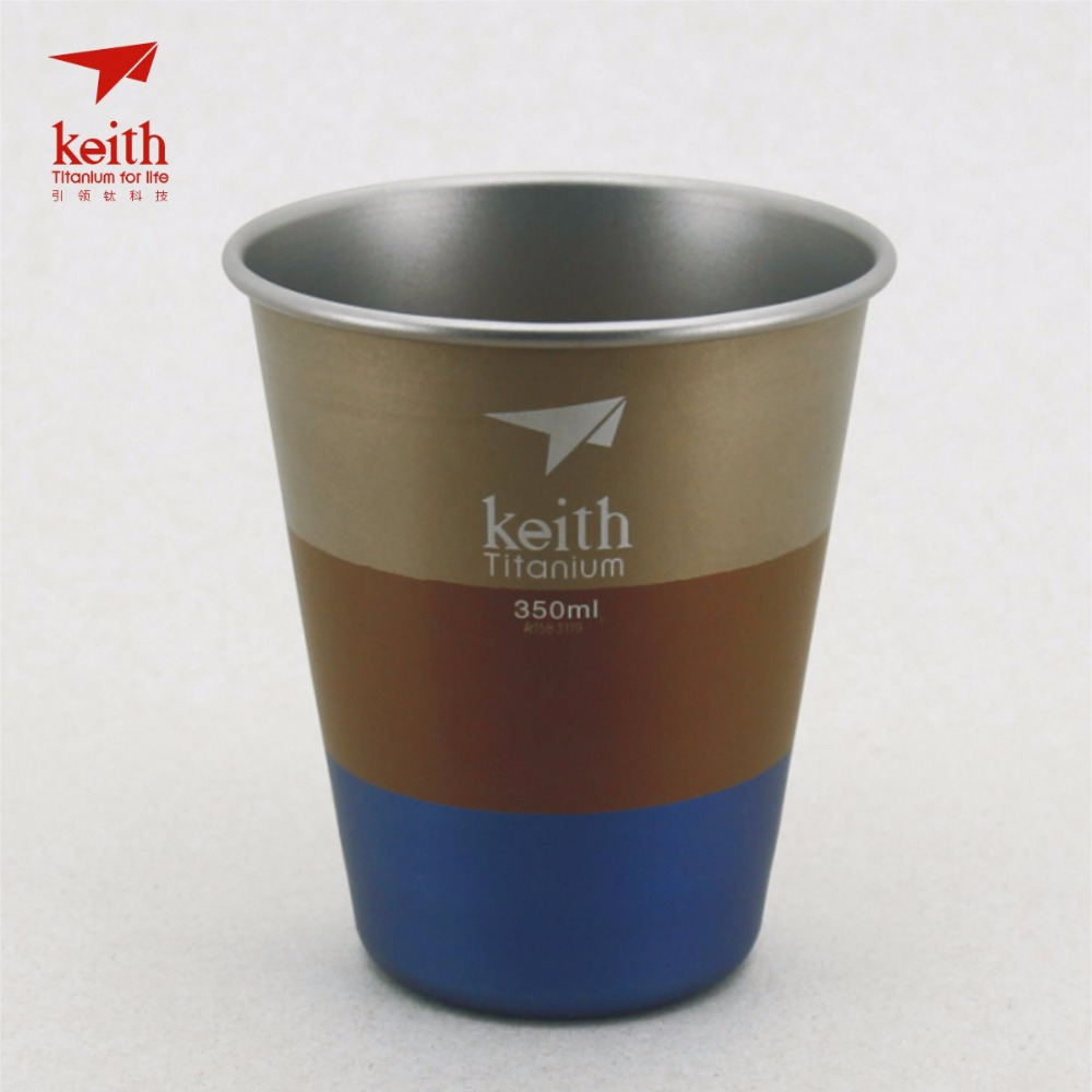 Keith Ti9016 Colorful Titanium Water Beer Cup Mug Travel Picnic Cookware Accessory 350ml кружка dc beer mug black