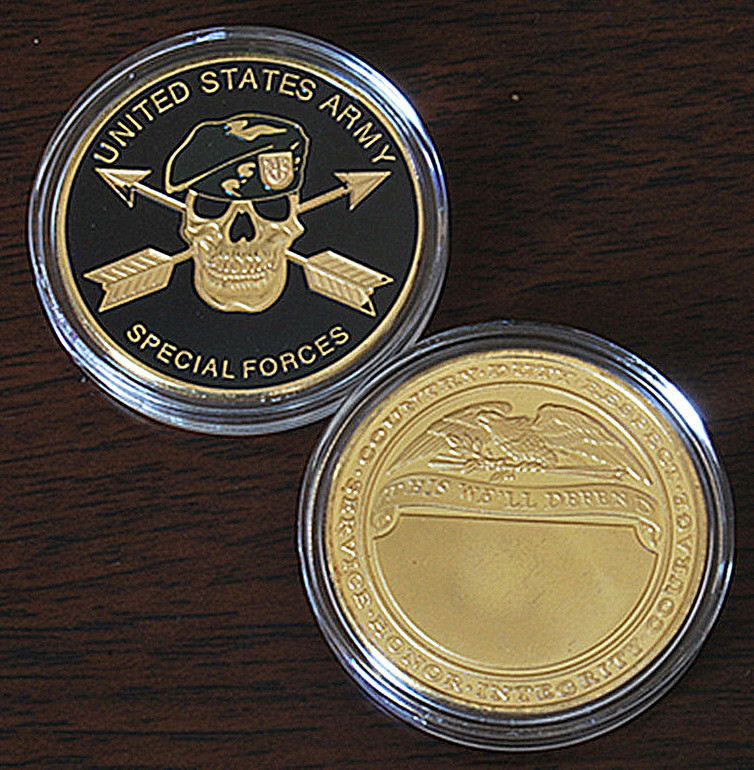 Mix 3pcs lot United States Green Berets Special Forces Coins Army Challenge Coin Commemorative coins free shipping in Non currency Coins from Home Garden
