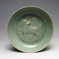 Редкие династии Сун (961 1275) Лунцюань печи фарфоровая миска, Кирин, лучшая коллекция и украшения