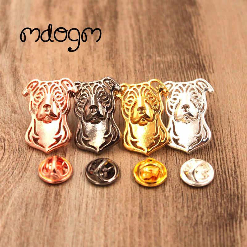 Mdogm American Staffordshire Terrier Spille E Pins Suit Cute Divertente Metallo Piccolo Padre Mostrine Regalo Uomo Men B050