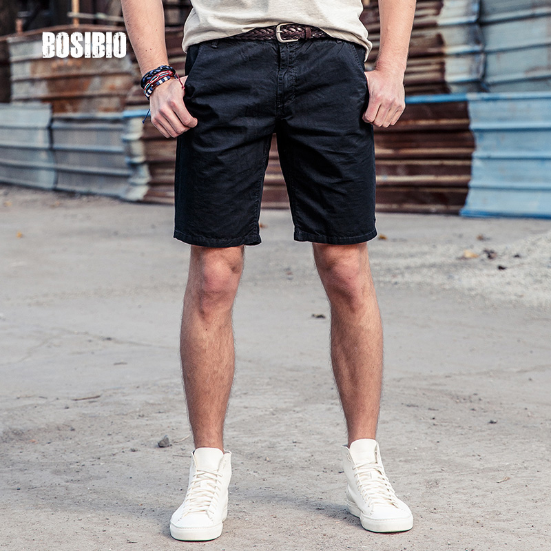 New Fashion Design Mens Cargo Shorts Cotton Knee Length Solid Military Style Short Pants 2017 ...